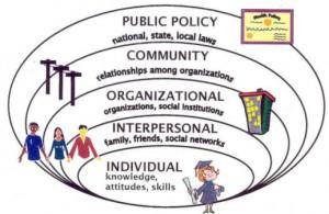 public policy, community, organizational, interpersonal, individual